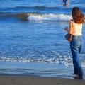 夕方の湘南・鵠沼海岸 #湘南 #藤沢 #海 #波 #wave #surfing #mysky #サーフィン #sea #beach