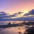 Photos: 夕闇迫る湘南・鵠沼海岸 #湘南 #藤沢 #海 #波 #wave #surfing #mysky #サーフィン #sea #beach