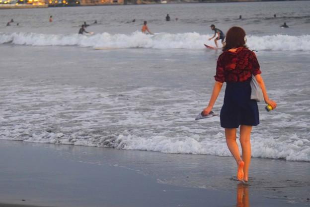 黄昏の湘南・鵠沼海岸 #湘南 #藤沢 #海 #波 #wave #surfing #mysky #サーフィン #sea #beach