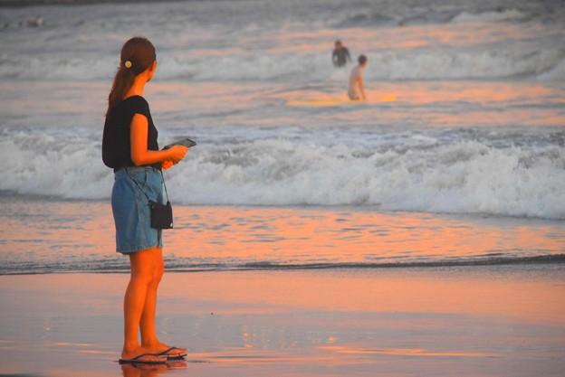 黄昏の湘南・鵠沼海岸 #湘南 #藤沢 #海 #波 #wave #surfing #sea