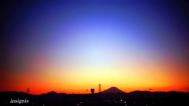 Photos: 富士山夕景.......