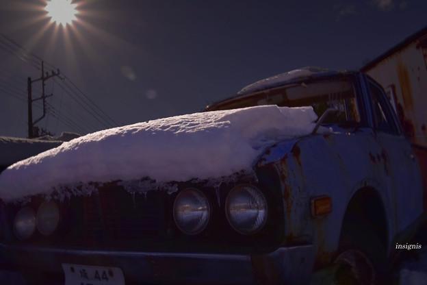 雪映え.......