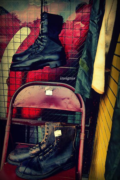 Combat boots.......