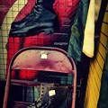 写真: Combat boots.......