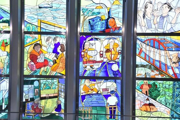 鉄道博物館のステンドグラス