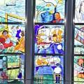 写真: 鉄道博物館のステンドグラス