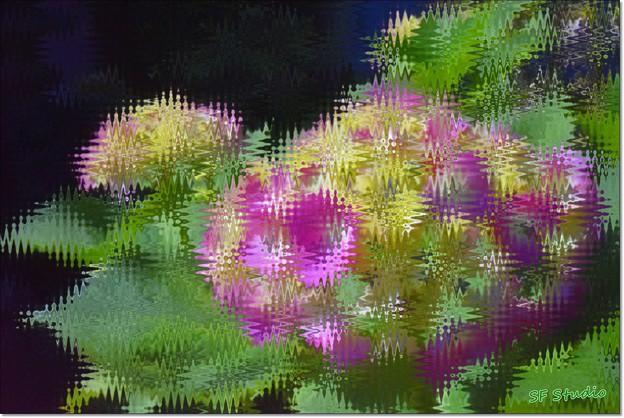 ピンホール写真+波板ガラスフィルター