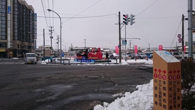 駅前の獅子舞 [JR 酒田駅]