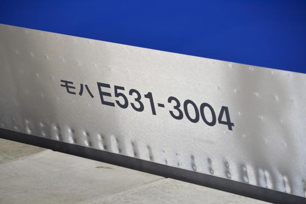 車番 (E531系3000番台 水カツK554編成) [JR常磐線 我孫子駅]