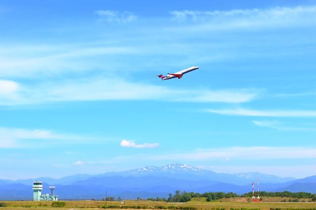 小松空港からの白山眺望