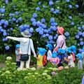 Photos: 紫陽花と子供たち