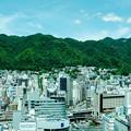写真: 緑の山波