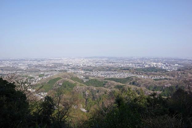 写真: 八王子城からの眺め