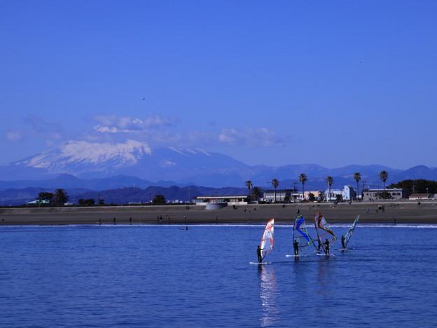 富士山とウインドサーフィン