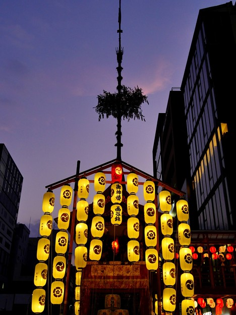 祇園の夕映え