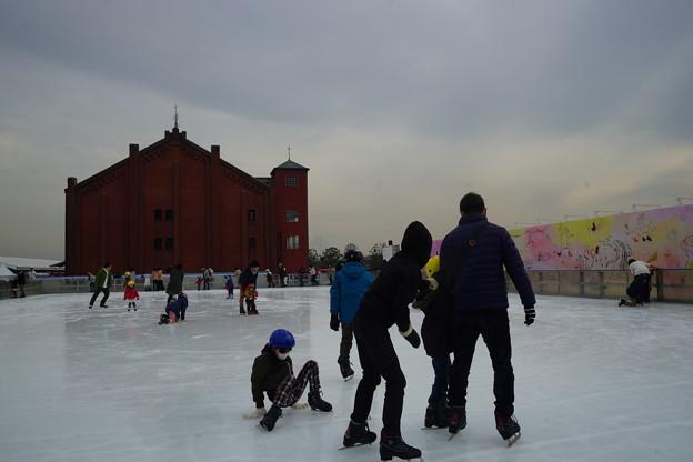 写真: スケート場