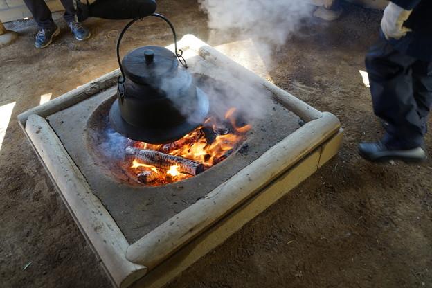 写真: 囲炉裏
