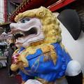 写真: 中華街の獅子