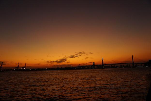 写真: 日没