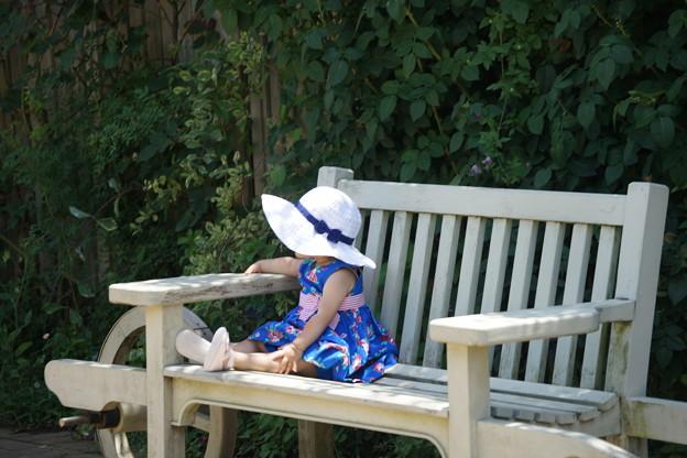 夏帽子の女の子