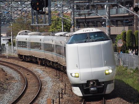 287系特急くろしお 東海道本線サントリーカーブ