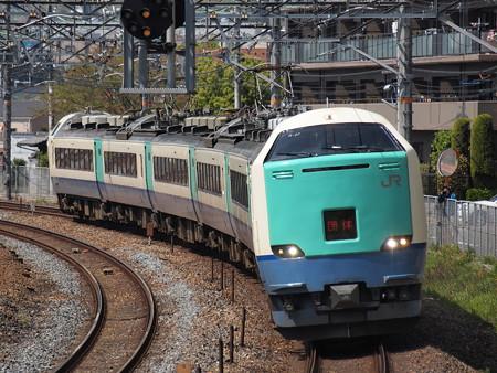 485系3000番台 天理臨 東海道本線サントリーカーブ