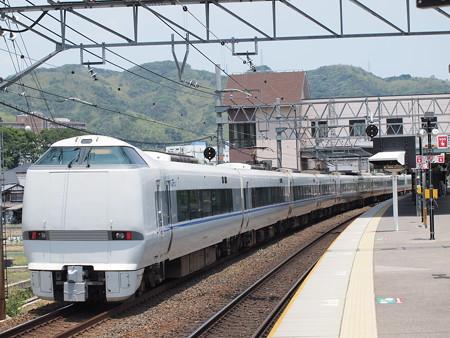 683系特急サンダーバード 東海道本線島本駅02