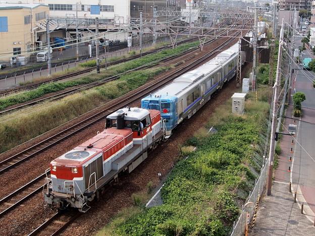 DE10 733系甲種 東海道本線尼崎~塚本信号場