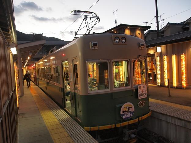 嵐電モボ101形 嵐山本線嵐山駅04