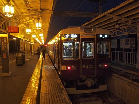 阪急6300系普通 阪急嵐山線嵐山駅01