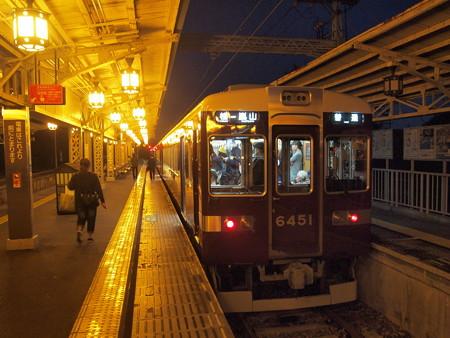 阪急6300系普通 阪急嵐山線嵐山駅02