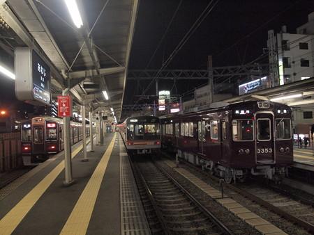淡路駅での並び02