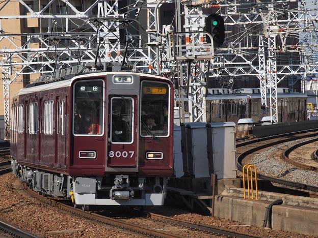 阪急8000系急行 阪急宝塚線中津駅