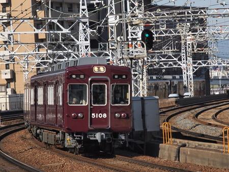 阪急5100系普通 阪急宝塚線中津駅