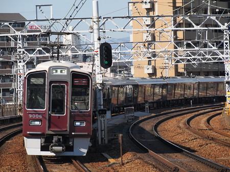阪急9000系特急 阪急神戸線中津駅