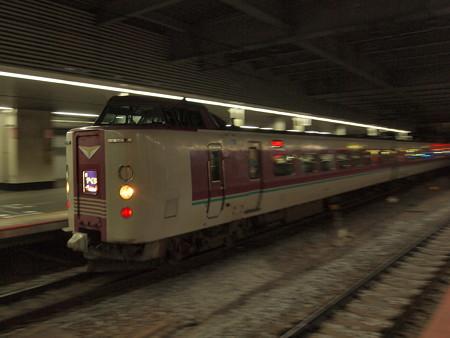 381系特急やくも 山陽本線岡山駅03
