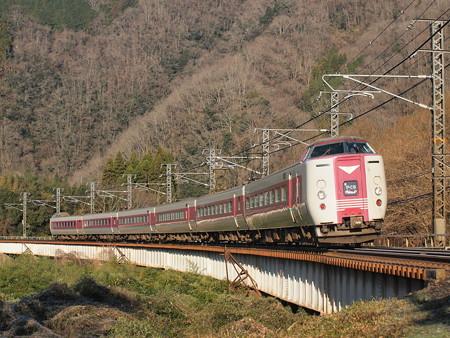 381系特急やくも 伯備線方谷~備中川面01
