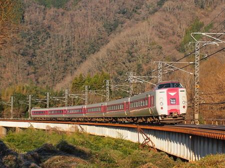 381系特急やくも 伯備線方谷~備中川面02