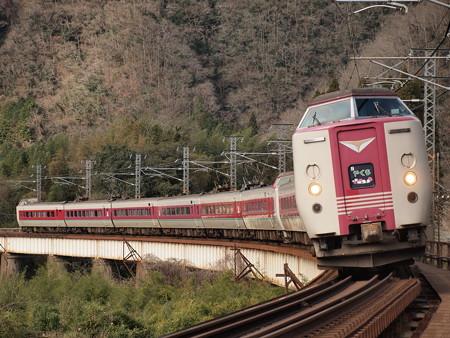 381系特急やくも 伯備線方谷~備中川面07