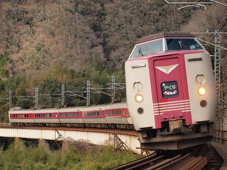 381系特急やくも 伯備線方谷~備中川面08