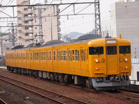 115系回送 山陽本線下関駅