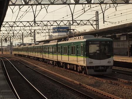 京阪7000系準急 京阪本線西三荘駅