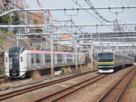 E259系特急成田エクスプレス横須賀線武蔵小杉~横浜03