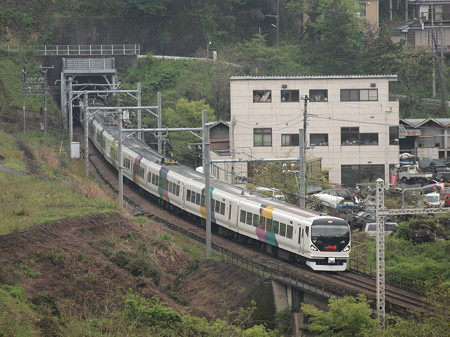 E257系特急かいじ 中央本線藤野~上野原