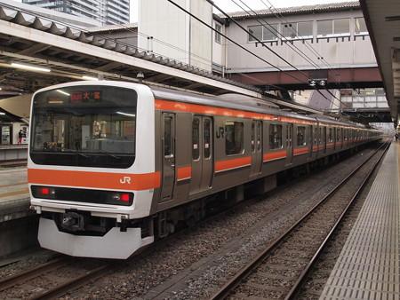 209系むさしの号 中央本線八王子駅