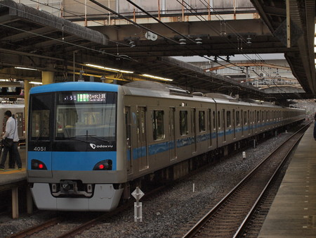 小田急4000各停 常磐線松戸駅02