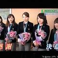 写真: 「つづくシーズンへ 決意 感謝」花束と笑顔が似合う5人(*´∇`*)そだねー(^-^)