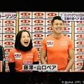 写真: 19:24藤澤五月(*^◯^*)大笑いお口にイチゴあげたいね(^。^)山口剛史さわやか(^-^)吉田知那美はしっこ元気(^_^)皆さん仲良し笑顔そだねー(*^▽^*)~ニュース7リアルタイム