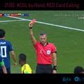 写真: 21:05 #COL by Hand, RED Card Exiting~故意に腕にあてゴールを塞いだ、一発退場!開始早々興奮驚き勝機の展開!半端ない!日本サッカー史上最短☆輝く赤色☆奇跡は起きる☆