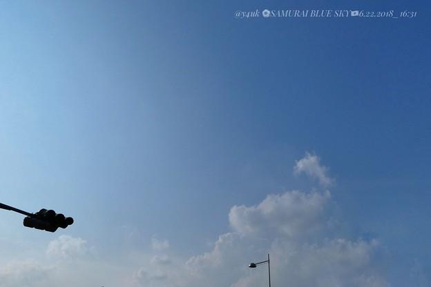 写真: SAMURAI BLUE SKY 梅雨の晴れ間6.22_16:31今日しかない~日本代表2戦目も勝利への準備いろいろ旅~vsセネガルに絶対勝利☆Wish a victory! 24時まで1時間前のUP